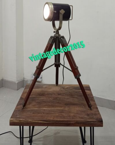 Nautical DESIGNER TABLE SEARCH LIGHT WITH STAND Spot Light Studio Lamp