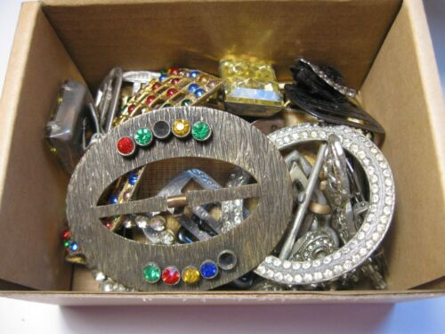 Lot of Antique,Vintage Glitz Buckles Dress, Shoe Clips,  Ajax Pin and Buckle