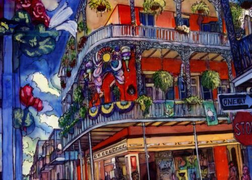 Authentic Hand Painted FRENCH QUARTER, JACKSON SQUARE, NEW ORLEANS, LOUISIANA
