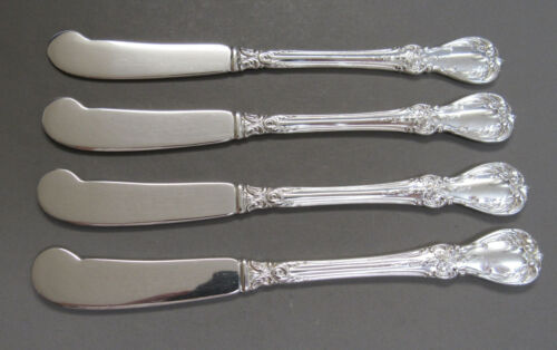Four (4) TOWLE STERLING SILVER OLD MASTER Flat Butter Spreaders NO MONOGRAM