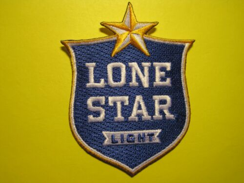 BEER PATCH LONE STAR LIGHT CUTOUT STYLE IRON ON OR SEW ON CREST SIZE TEXAS BREW!