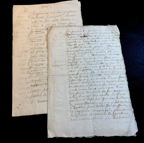 LOT OF TWO MARRAIGE CONTRACTS  1600s