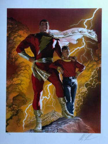 ALEX ROSS rare SHAZAM paper giclee SIGNED AP San Diego 2019 EXCLUSIVE