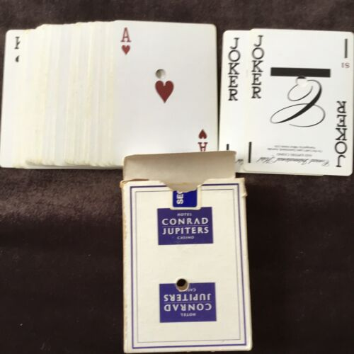 Vintage 1987-Casino Playing Cards- Conrad Jupiters Used Complete Deck