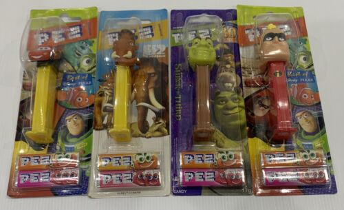 4x SHREK, CARS, THE INCREDIBLES PEZ Dispensers *NEW* Sealed Collectable Retired