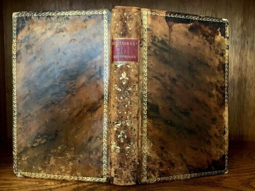 1806 HISTORICAL DICTIONARY of Famous People of Antiquity, Princes, Philosophers