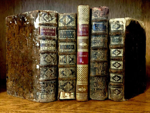 OLD BOOKS COLLECTION from 1600-1800s Tacitus, La Fontaine and Aesop Fables