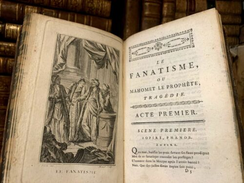 1778 CHIEF DRAMATIC WORKS OF VOLTAIRE - Mohamed Fanaticism, Chinese Orphan Etc