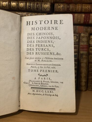 1771 MODERN HISTORY OF CHINESE Japanese, Indians, Persians, Russians, Turks Etc