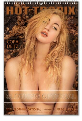 2022 Clothing Optional (Nude) - A3 Wall Nude Naked and Sexy Women Calendar