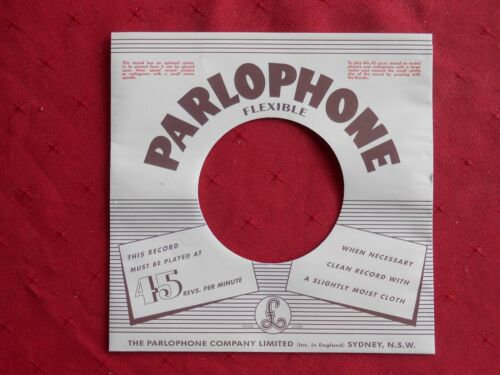 """Parlophone reproduction 7"""" Record sleeve. Brand new"""
