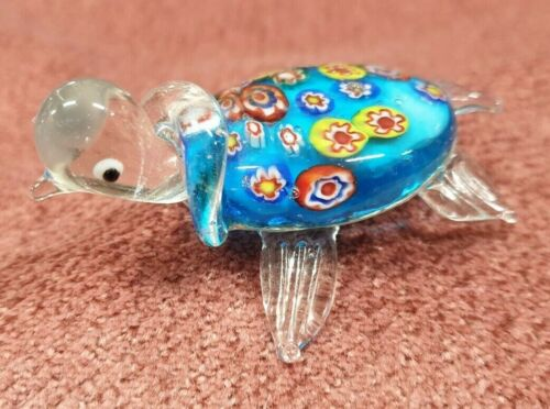 HAND BLOWN GLASS TURTLE GLASS MENAGERIE BY GIBSON IN ORIGINAL BOX