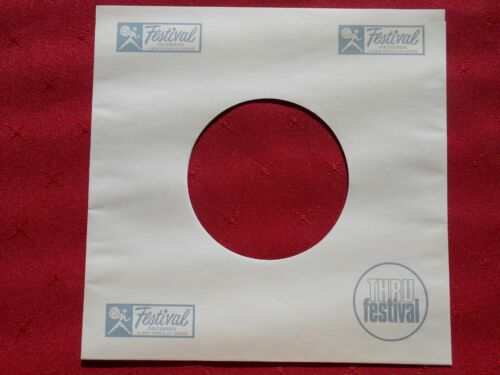 """FESTIVAL Reproduction 7"""" Record sleeve. Brand new"""