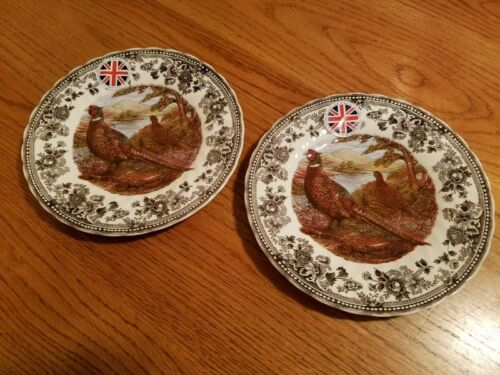 """Queen's Quintessential Game, 2 - 8"""" PLATES Pheasant, England, NEW"""