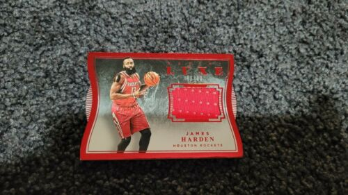 2015-16 PANINI LUXE DIE-CUT RED GAME JERSEYS JAMES HARDEN