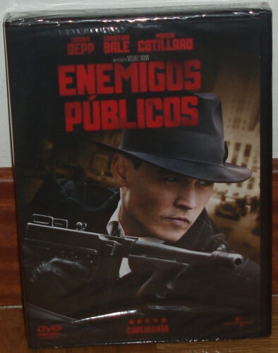 Enemies Publicos DVD New Sealed Thriller Action Johnny Deep (Sleeveless Open)
