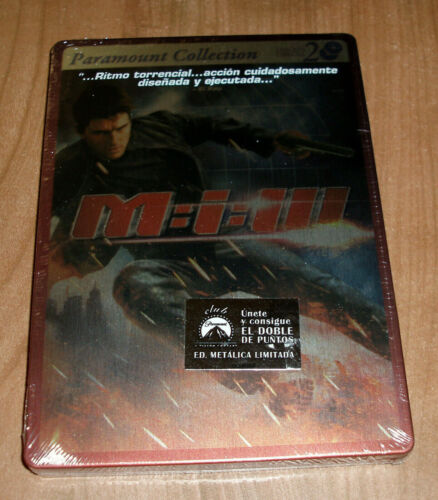 Mission Impossible Lll Edition 2 DVD Steelbook New Sealed (Sleeveless Open) R2