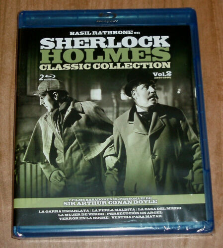 Sherlock Holmes Classic Collection VOL.2 New 2 Blu-Ray 7 Films Thriller R2