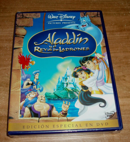 ALADDIN Y the King Of Thieves Disney DVD New Sealed (Sleeveless Open) R2