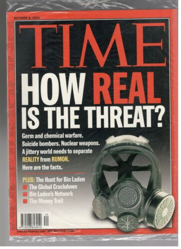 New Sealed Time Magazine October 8, 2001 How Real Is The Threat-Osama Bin Laden