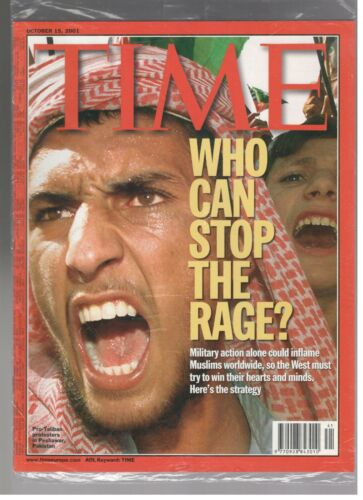 New Sealed Time Magazine October 15, 2001 Who Can Stop The Rage Taliban Al-Qaeda