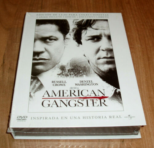 American Gangster Edition Deluxe Extended 3 DVD + Booklet New (No Open) R2