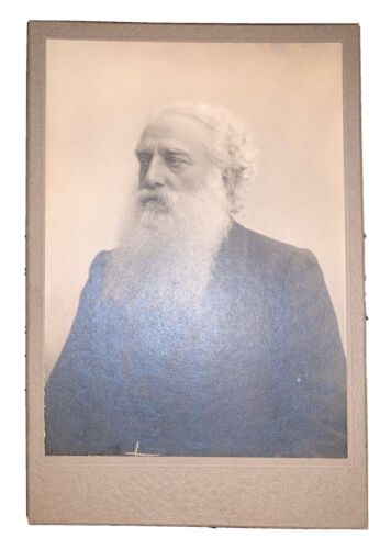 HENRY STEEL OLCOTT, ANTIQUE CABINET CARD PHOTOGRAPH, THEOSOPHY, BUDDHISM, OCCULT