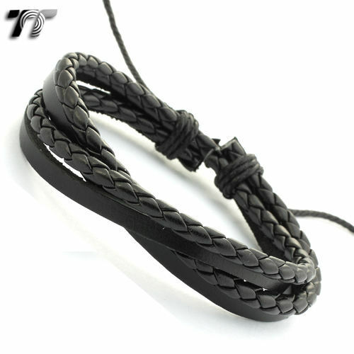 TRENDY T&T Leather Bracelet Wristband NEW LB78 <br/> Aussie Seller Get Fast 20-50% OFF Stock on Sale inStore