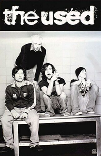 THE USED POSTER - Black and White Group Band shot