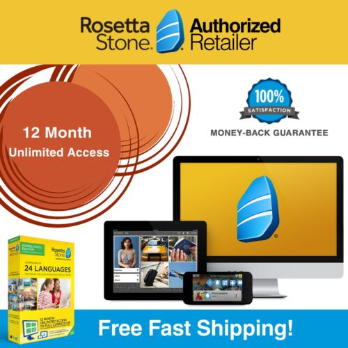 Rosetta Stone® LEARN ENGLISH HOMESCHOOL 12 Month 1 2 3 4 5 +Printable Workbooks!