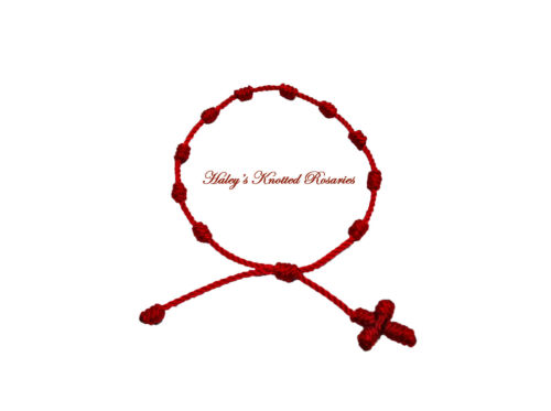 Knotted Rosary Bracelet - Red