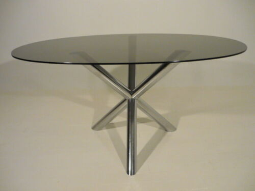 Vintage Roche Bobois Modern Chrome X Base Table/Desk Baughman Era