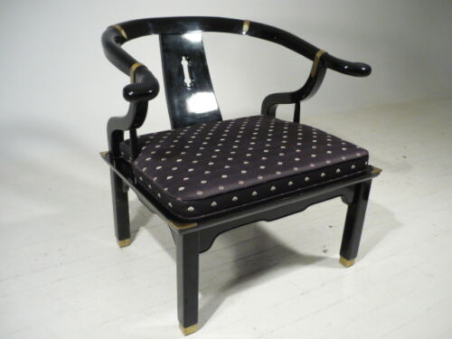 Classic Vintage Hollywood Regency/Modern Asian Style Lounge Chair Baker Era