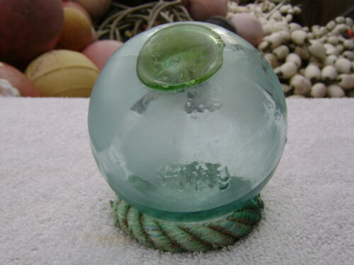 (#237) RARE DIF COLOR SEAL tri mold GLASS FLOAT BALL BUOY 1111 marking