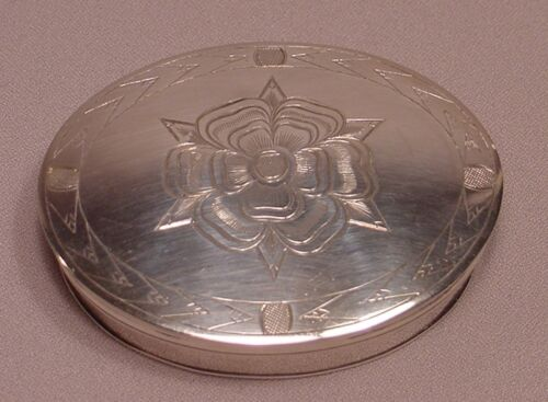 American Sterling Silver Gilt Lined Patch Box Washington Reproduction