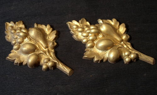TWO STUNNING FRENCH ANTIQUE BRONZE ORMOLU  MOUNTS