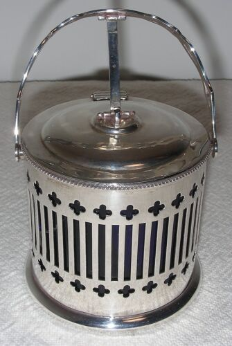 BIRKS STERLING CONDIMENT BOWL WITH AUTO LID 1904-24
