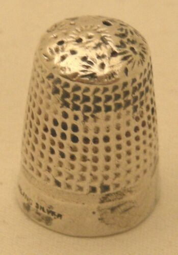 AMERICAN STERLING SILVER THIMBLE NO 10