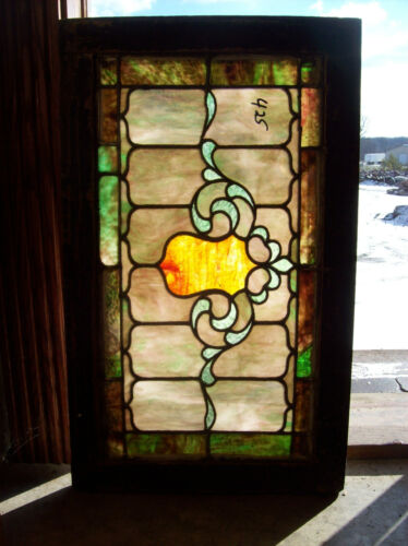 Stained glass Crest center feature window  (SG 1331)