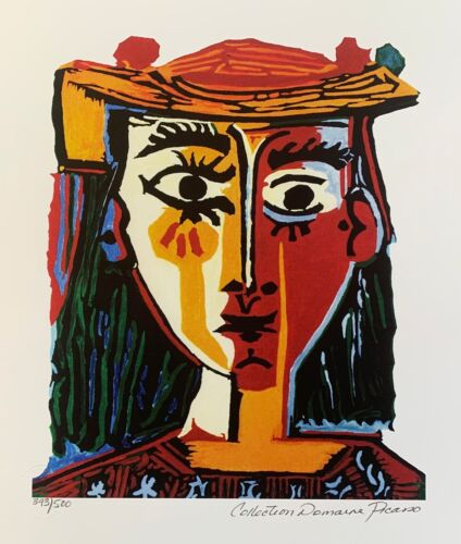 Pablo Picasso BUST OF A WOMAN Estate Signed & Numbered Small Giclee Art