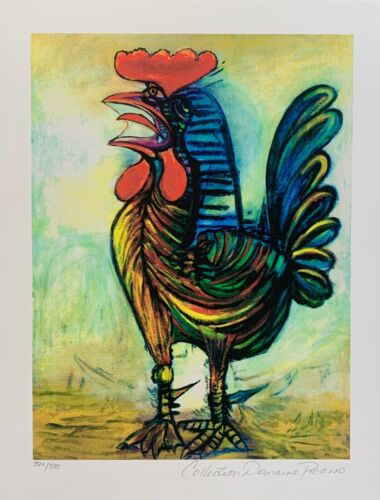 """Pablo Picasso THE ROOSTER Estate Signed Limited Edition Giclee Art 14.5"""" x 11"""""""
