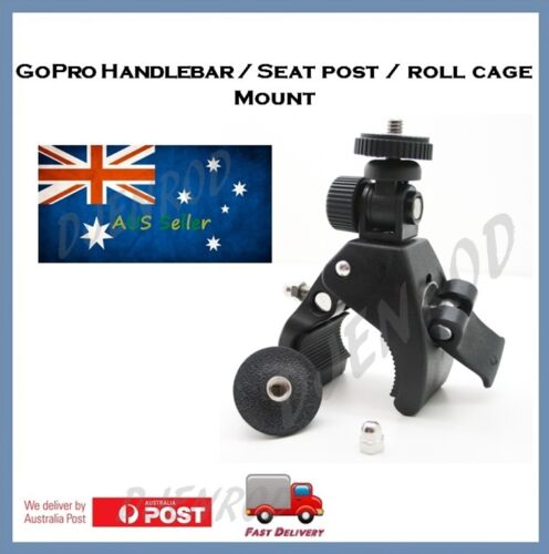 GoPro Hero 7 / 6 / 5 / 4 Session Handlebar / Roll Cage Mount - Go Pro Jaws Clamp
