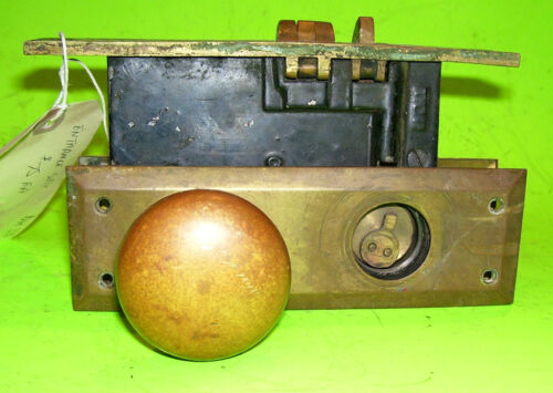Antique ENTRANCE SET with back Plates, lock box, and door knobs- (DH330)