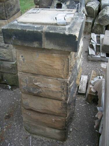 Antique Sandstone Stone Porch post Column columns