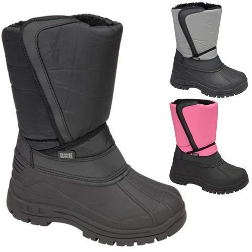 LADIES SNOW BOOTS WOMENS GIRLS WINTER MUCKER FUR THERMAL WELLINGTONS SHOES SIZE