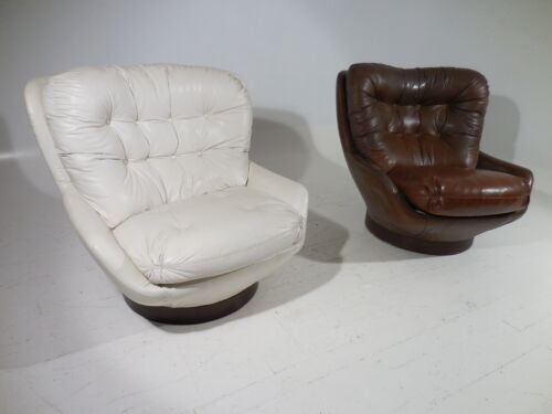 Pair 70's Mid 20th Century Pop Modern Selig Lounge Chairs Baughman/Colombo Era