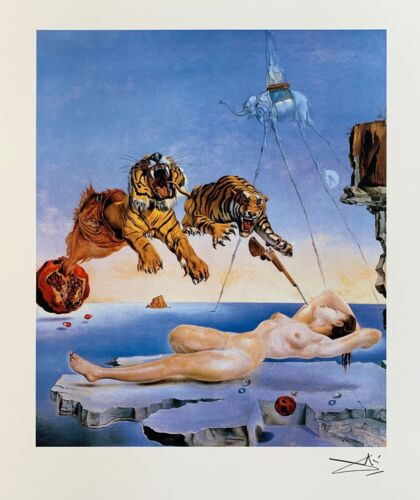 Salvador Dali SECOND BEFORE AWAKENING Facsimile Signed & Numbered Giclee Art