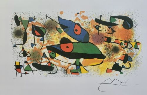 """JOAN MIRO """"SCULPTURES II"""" Facsimile Signed Limited Edition Lithograph Art"""