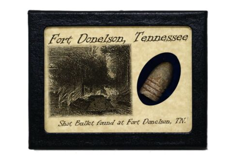 Shot Bullet Relic from The Battle of Fort Donelson, TN with Display Case & COABullets - 103996