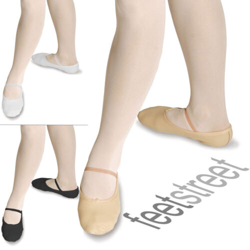 RochValley UK SIZED Pink Black White Leather Ballet Shoes PRE sewn elastic